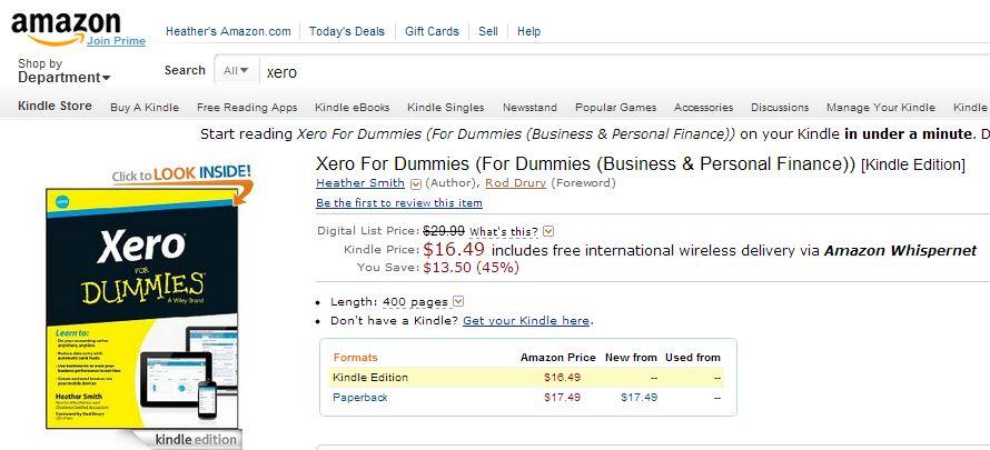 Amazon Rod Drury Xero for Dummies