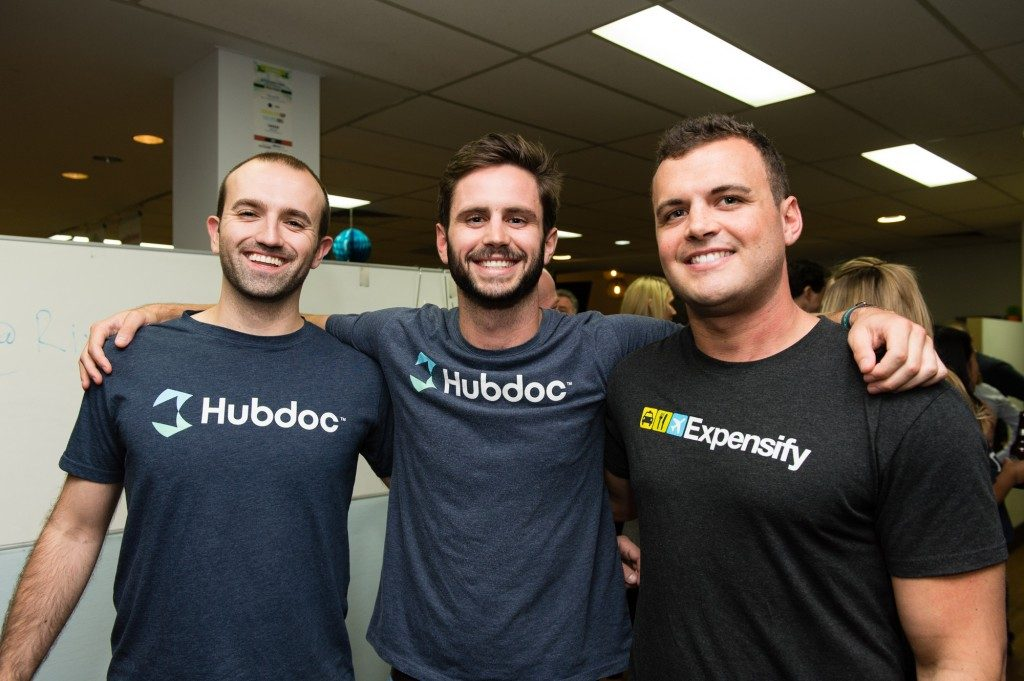 The guys from HubDoc and Expensify at the Xero MasterMind Meetup Sept 16