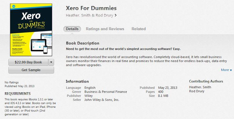 Rod Drury Itune Xero for Dummies