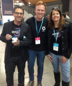 Chris Ridd Xero AU MD & Jake Shelley - Deputy - Customer Experience & Victoria Crone Xero NZ MD ... eating ice-cream and looking very young