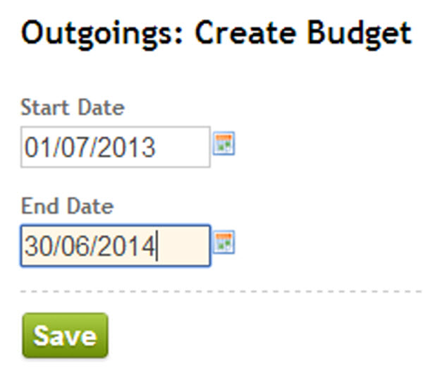 ReLeased Create Budget