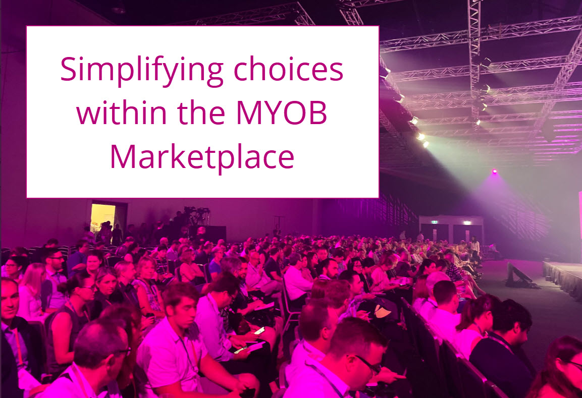 Simplifying the choices within the MYOB Marketplace