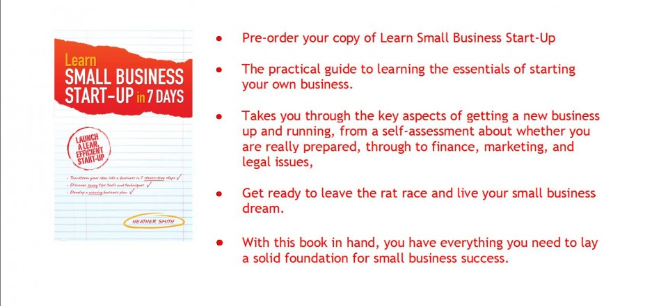 Learn Small Business Start-Up in 7 Days