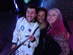 Astronaught Guy Pearson, Gayle Buchanan and me. Guy is using a selfie stick to take the image.